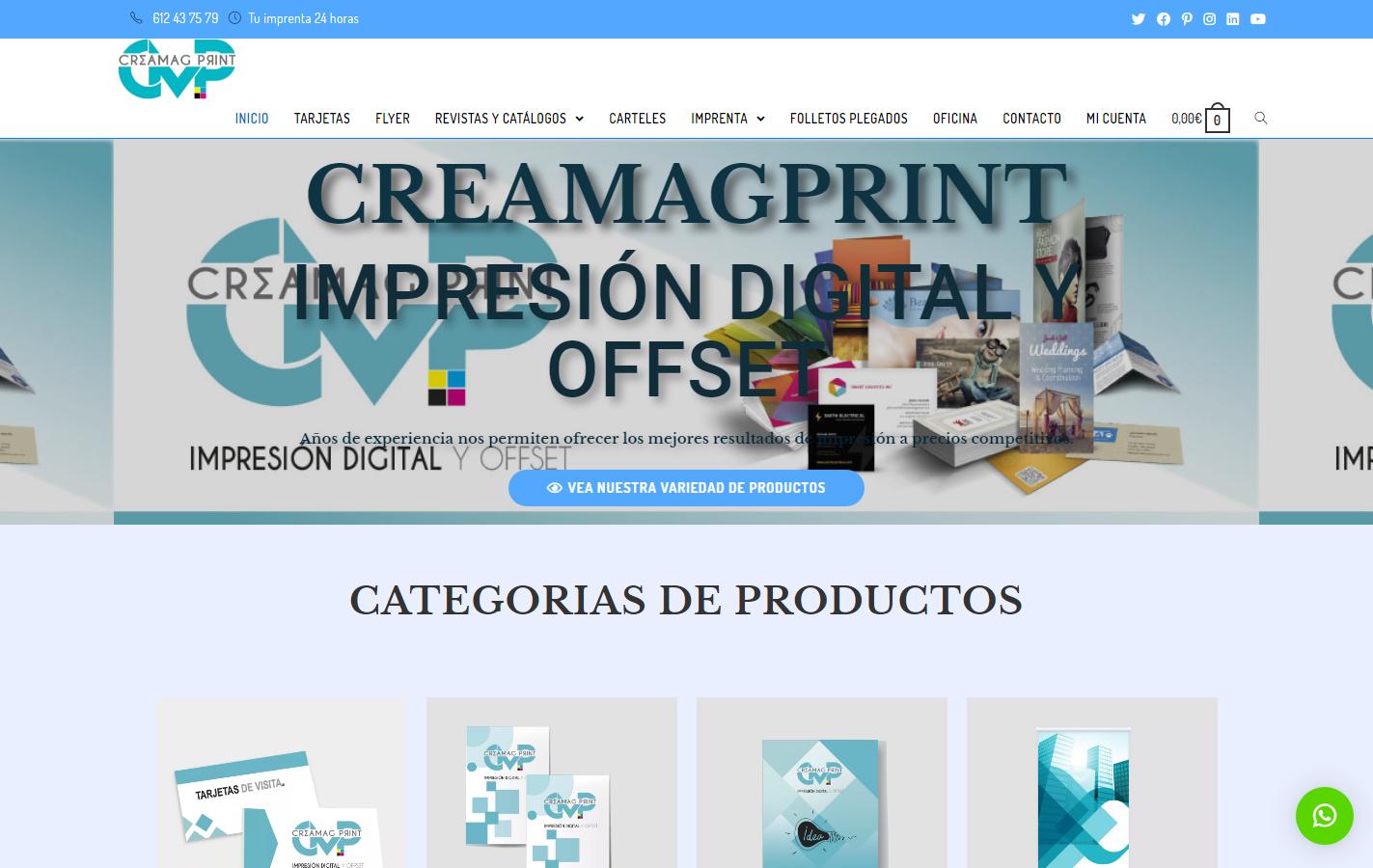 captura web creamagprint